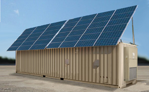 The Solar Shade Protects Containers from heat, reducing loads on ECU systems.